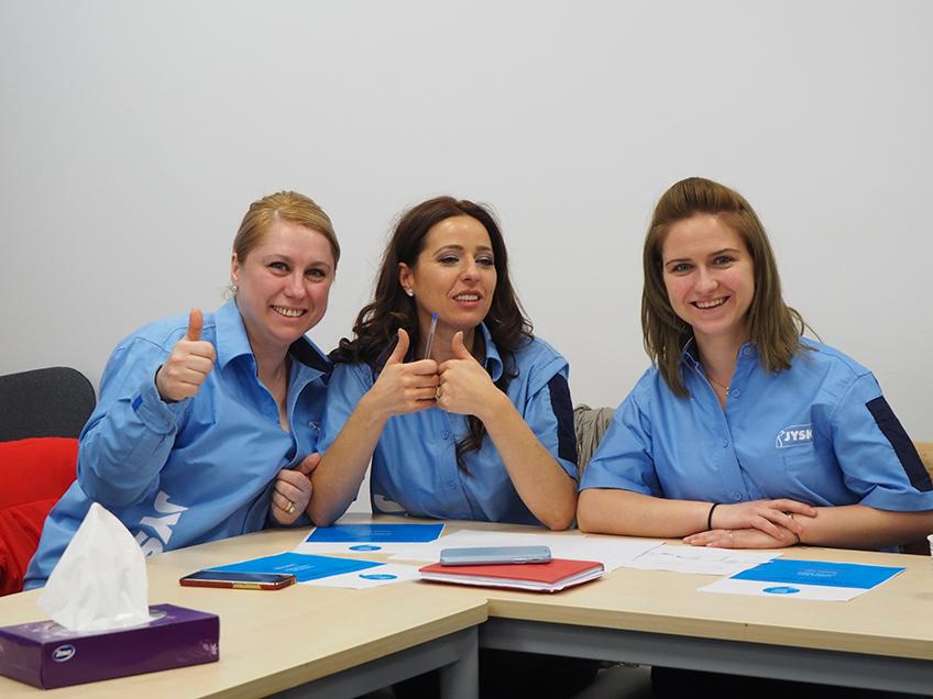 Gianina Platon (Sales Assistant), Cristina Ioan (Deputy Store Manager) and Simona Filip (Sales Assistant)