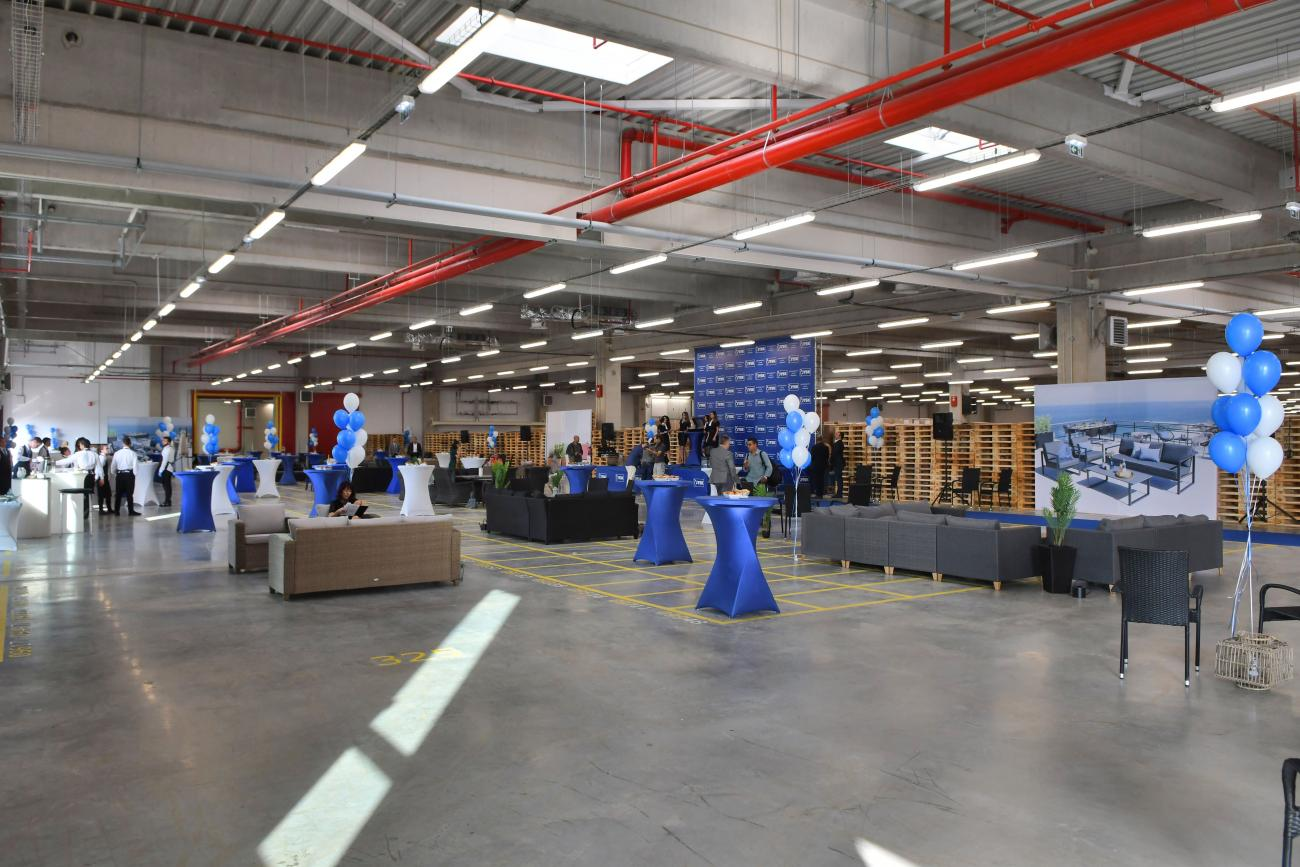 The inauguration of the distribution centre in Bozhuristhe