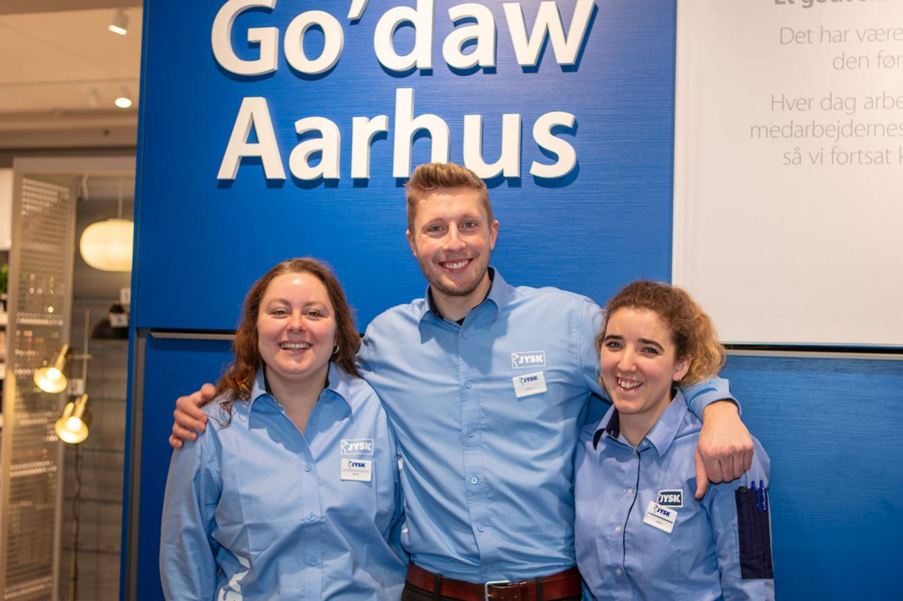 Store Manager Morten Fjelsted with his colleagues Marie and Maria.