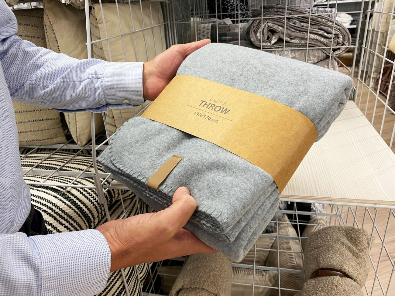 Home textiles are some of the first products to get new packaging design.