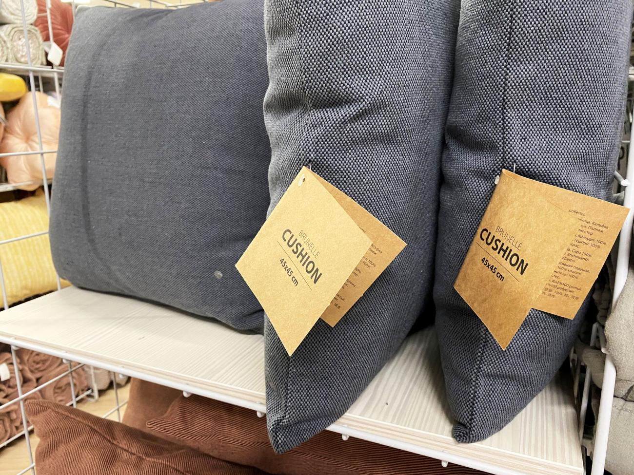 Pillows will get a simple and more sustainable name tag with information for the customers.