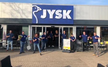 Happy employees at the opening of the storie in Texel, The Netherlands